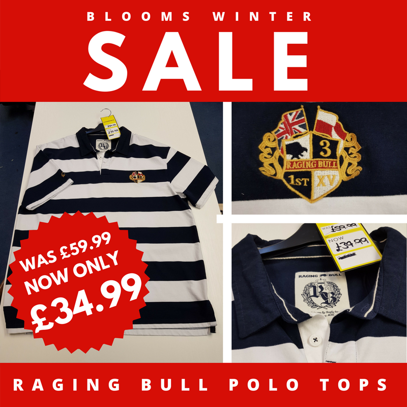 Blooms Menswear Wolverhampton - Raging Bull Polo Shirts Discounted Sale Offer