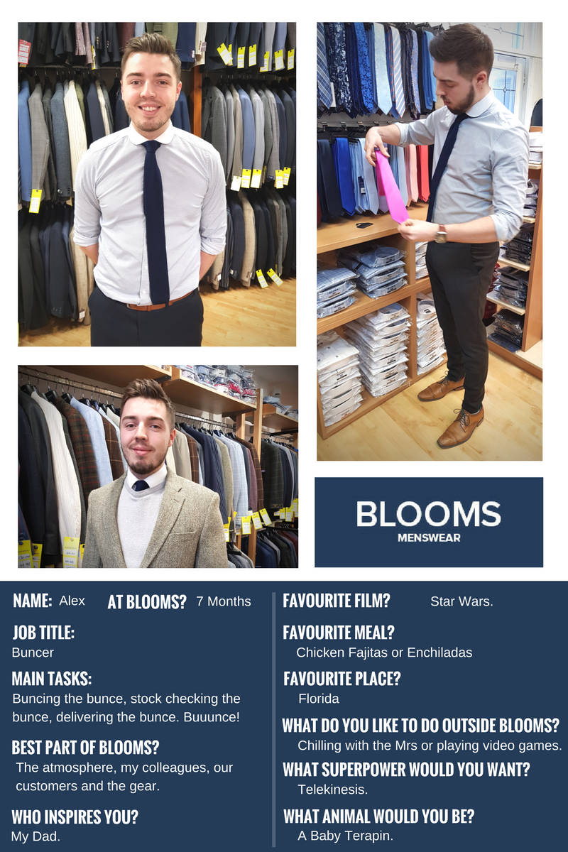 Blooms Menswear Wolverhampton - Getting To Know You - Alex